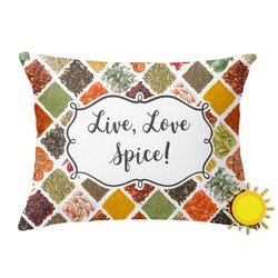 Spices Outdoor Throw Pillow (Rectangular) (Personalized)