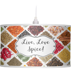 Spices Drum Pendant Lamp Linen (Personalized)