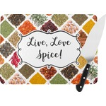 Spices Rectangular Glass Cutting Board (Personalized)