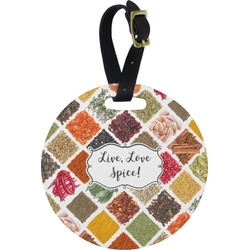 Spices Round Luggage Tag (Personalized)