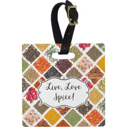 Spices Square Luggage Tag (Personalized)