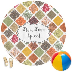 Spices Round Beach Towel (Personalized)
