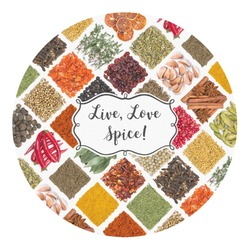 Spices Round Decal (Personalized)