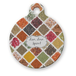 Spices Round Pet Tag (Personalized)