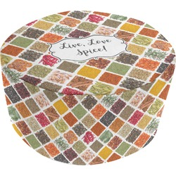 Spices Round Pouf Ottoman (Personalized)