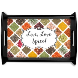 Spices Black Wooden Tray (Personalized)