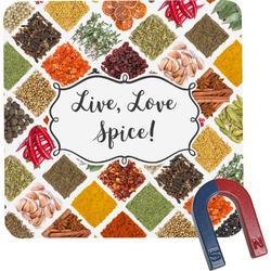 Spices Square Fridge Magnet (Personalized)