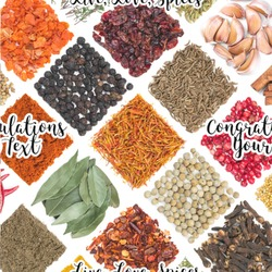 """Spices Wallpaper & Surface Covering (Peel & Stick 24""""x 24"""" Sample)"""