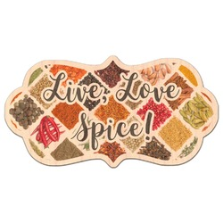 Spices Genuine Maple or Cherry Wood Sticker (Personalized)