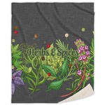 Herbs & Spices Sherpa Throw Blanket (Personalized)