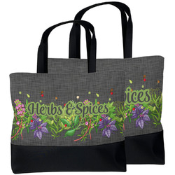 Herbs & Spices Beach Tote Bag (Personalized)