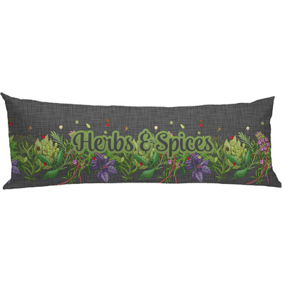 Herbs & Spices Body Pillow Case (Personalized)
