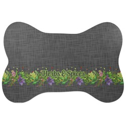 Herbs & Spices Bone Shaped Dog Food Mat (Personalized)
