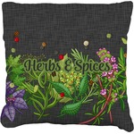Herbs & Spices Faux-Linen Throw Pillow (Personalized)