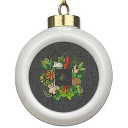 Herbs & Spices Ceramic Ball Ornament