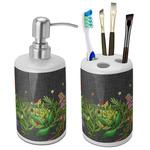 Herbs & Spices Ceramic Bathroom Accessories Set