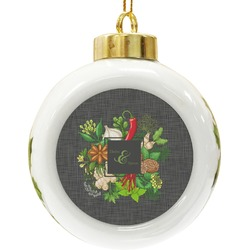 Herbs & Spices Ceramic Ball Ornament (Personalized)