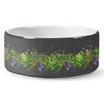 Herbs & Spices Ceramic Dog Bowl (Personalized)