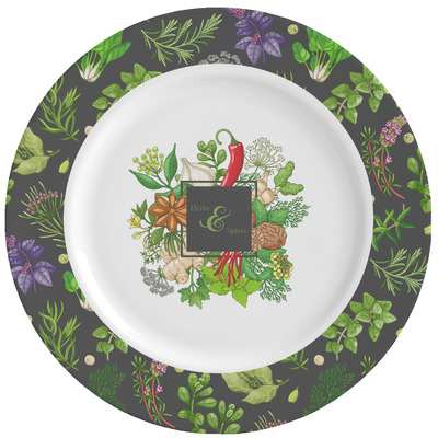 Herbs & Spices Ceramic Dinner Plates (Set of 4) (Personalized)
