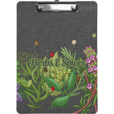 Herbs & Spices Clipboard (Personalized)