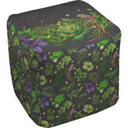 Herbs & Spices Cube Pouf Ottoman (Personalized)