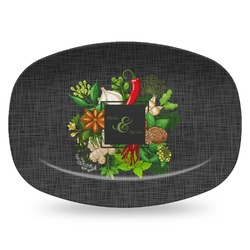 Herbs & Spices Plastic Platter - Microwave & Oven Safe Composite Polymer (Personalized)