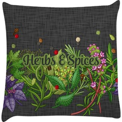 Herbs & Spices Decorative Pillow Case (Personalized)