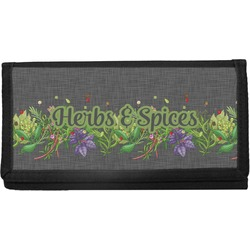 Herbs & Spices Canvas Checkbook Cover (Personalized)