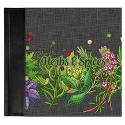 Herbs & Spices Genuine Leather Baby Memory Book (Personalized)