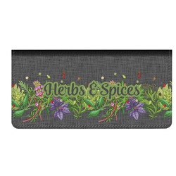 Herbs & Spices Genuine Leather Checkbook Cover (Personalized)
