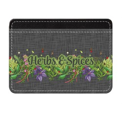 Herbs & Spices Genuine Leather Front Pocket Wallet (Personalized)