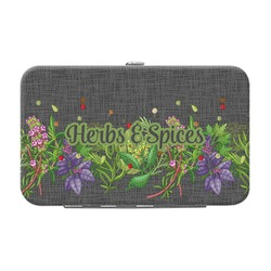 Herbs & Spices Genuine Leather Small Framed Wallet (Personalized)