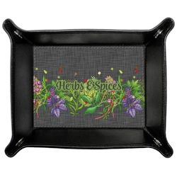 Herbs & Spices Genuine Leather Valet Tray (Personalized)