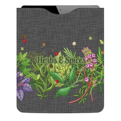 Herbs & Spices Genuine Leather iPad Sleeve (Personalized)