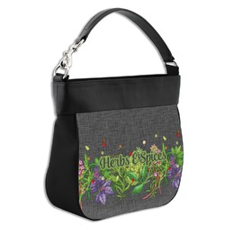 Herbs & Spices Hobo Purse w/ Genuine Leather Trim (Personalized)
