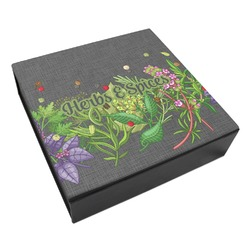 Herbs & Spices Leatherette Keepsake Box - 8x8 (Personalized)
