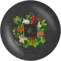 """Herbs & Spices Melamine Plate - 8"""" (Personalized)"""