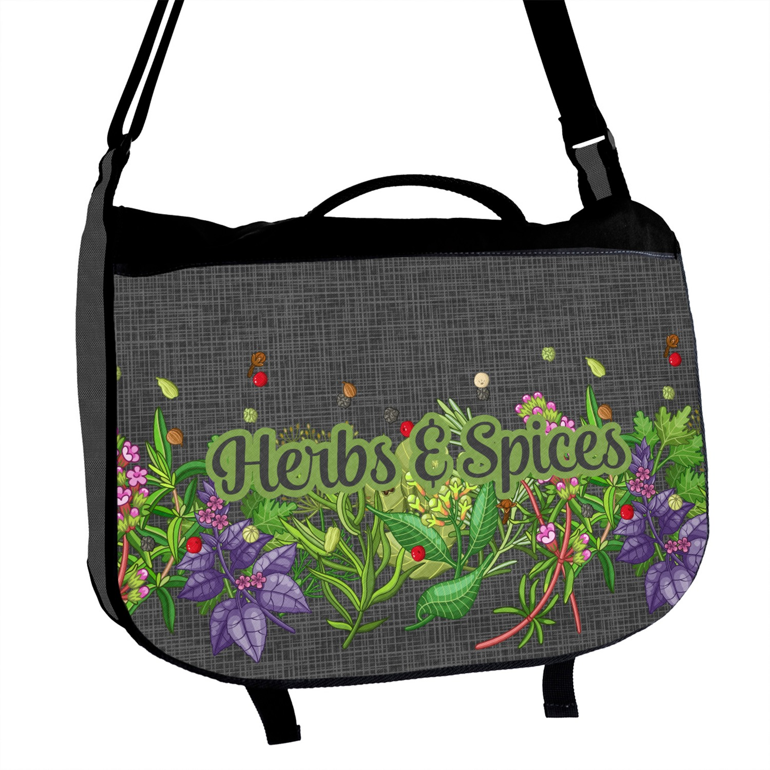 Personalized Herbs /& Spices Messenger Bag