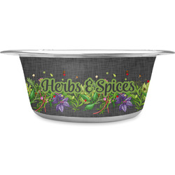 Herbs & Spices Stainless Steel Pet Bowl (Personalized)