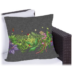 Herbs & Spices Outdoor Pillow (Personalized)