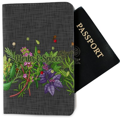 Herbs & Spices Passport Holder - Fabric (Personalized)