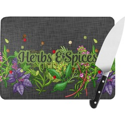 Herbs & Spices Rectangular Glass Cutting Board (Personalized)