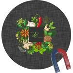 Herbs & Spices Round Fridge Magnet