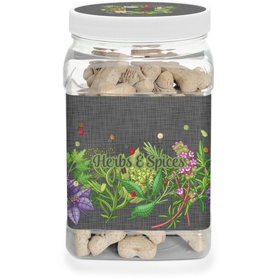 Herbs & Spices Dog Treat Jar (Personalized)