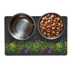 Herbs & Spices Pet Bowl Mat (Personalized)