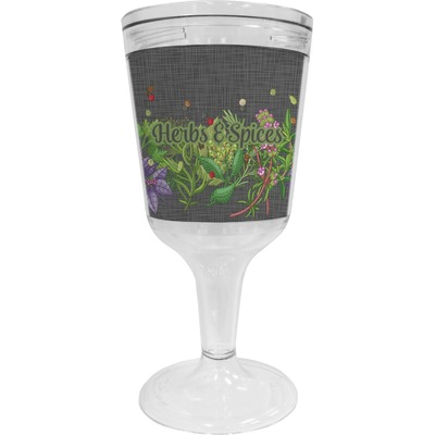 Herbs & Spices Wine Tumbler - 11 oz Plastic (Personalized)