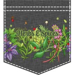 Herbs & Spices Iron On Faux Pocket (Personalized)