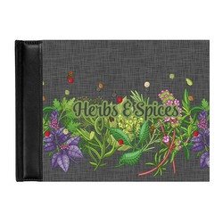 Herbs & Spices Genuine Leather Guest Book (Personalized)