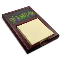Herbs & Spices Red Mahogany Sticky Note Holder (Personalized)