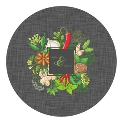 Herbs & Spices Round Decal - Custom Size (Personalized)